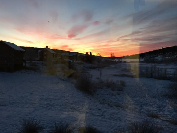 Tidig morgon i Sälen
