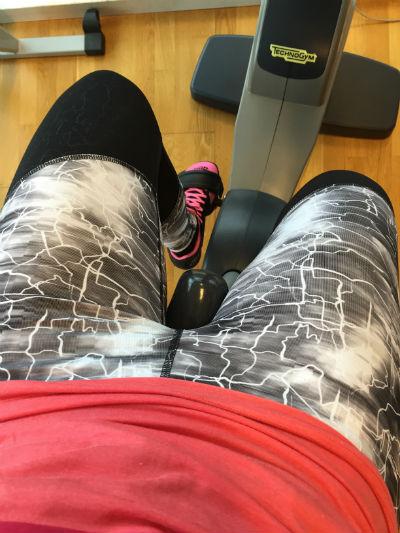 På gymmet i nya skor