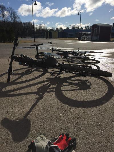Trio i cyklar