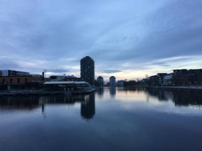 Tidig morgon i Inre Hamn