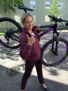 Martha och mountainbiken