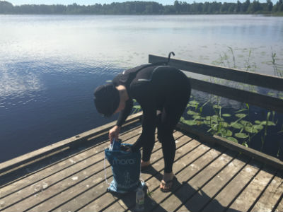 Simträning i Kroppkärrssjön 1