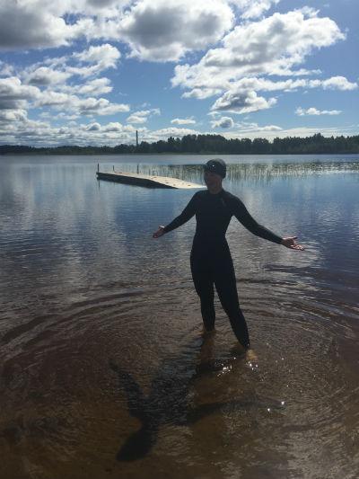 Simträning i Kroppkärrssjön 6