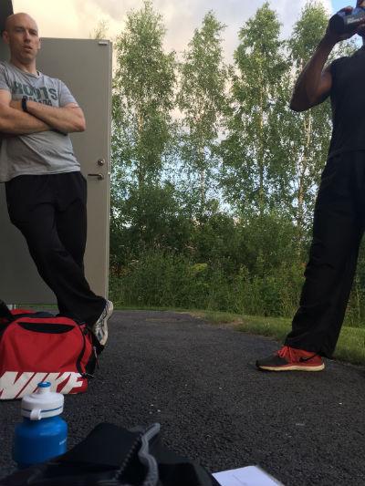 Krav i Forshaga med Christian och Anton