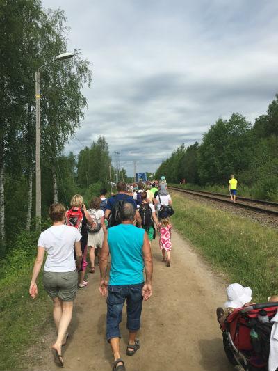 På  väg till starten  - Vansbro